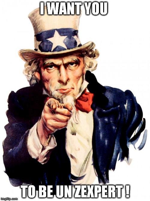 Oncle Sam te veut sur le site des Zexperts