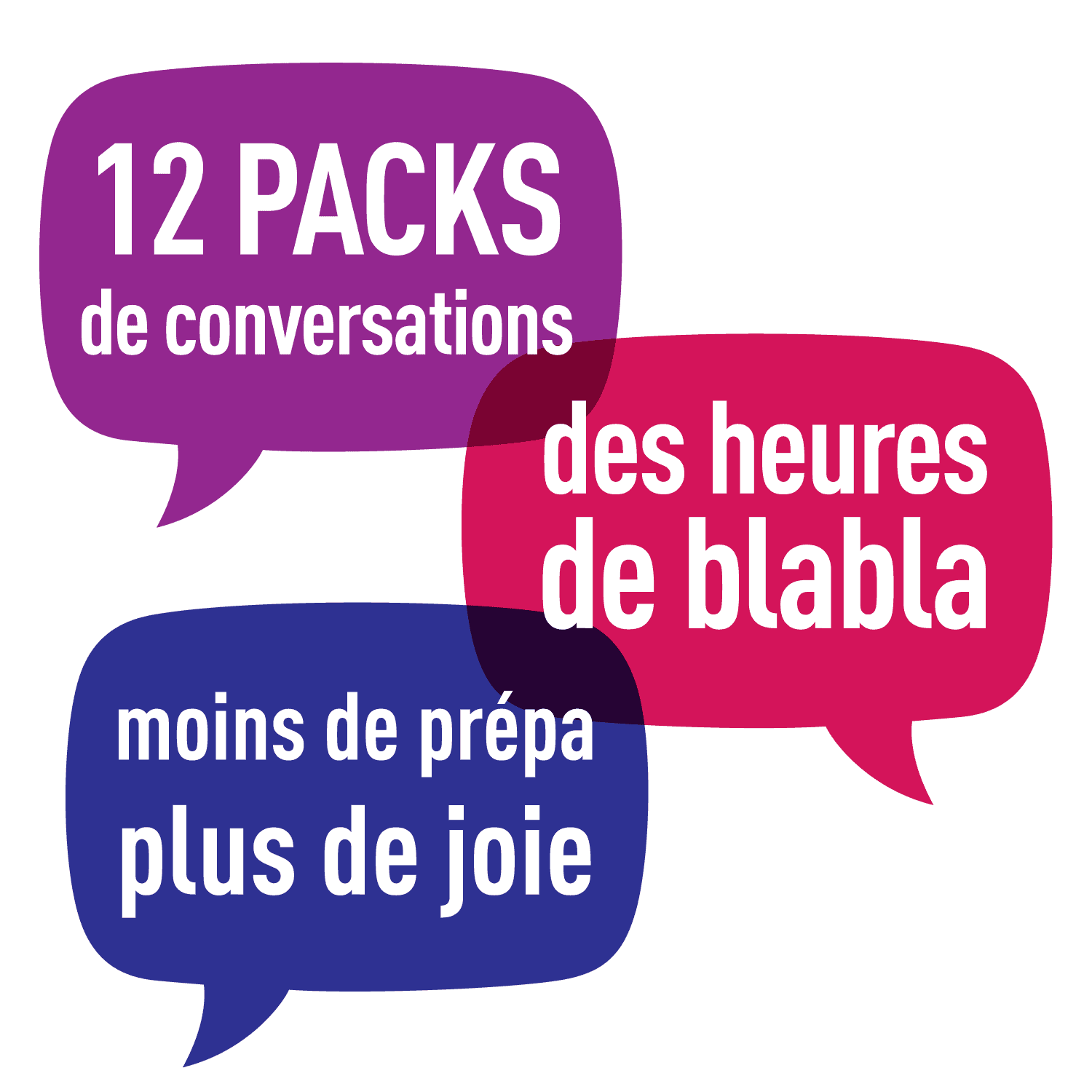 12 packs de conversation :