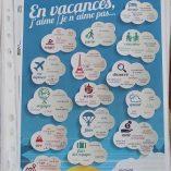 Poster FLE vacances niveau A1, format A4