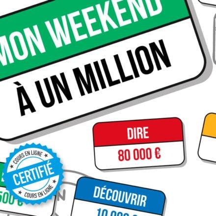 Poster jeu : mon weekend à un million