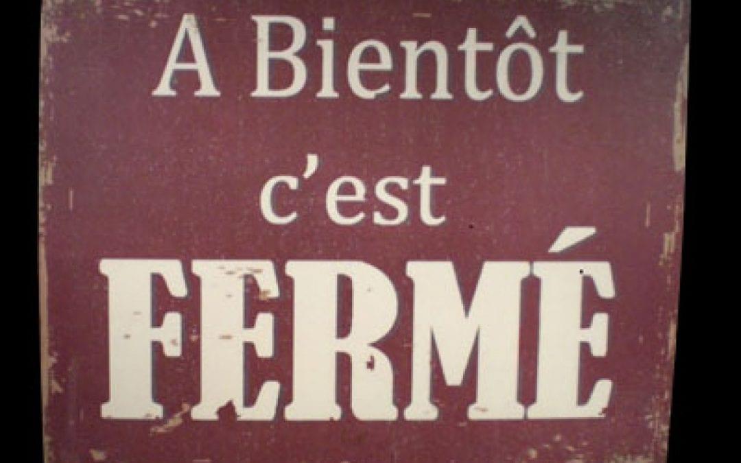 Fermeture provisoire de La Boutique FLE