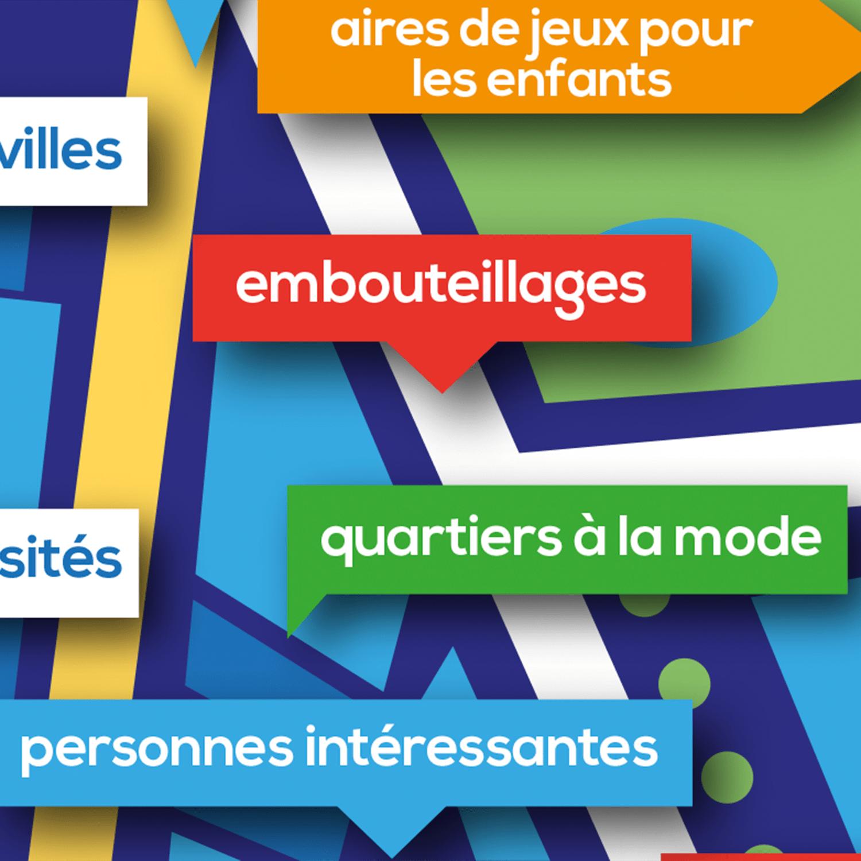 Poster vocabulaire A1-A2: Dans ma ville