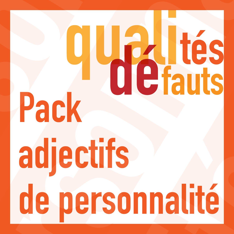 Pack De Jeux Les Adjectifs De Personnalite A1 B2 Les Zexperts Fle