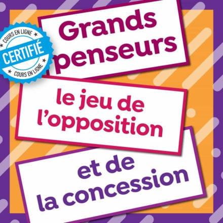 Grands penseurs: le jeu de l'opposition et de la concession