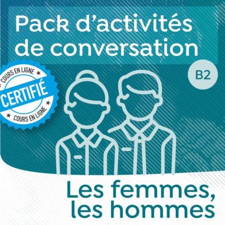 Pack de conversation sur le thème des femmes, des hommes et des inégalités (B2-C1)