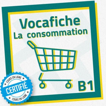 Vocafiche B1 : la consommation